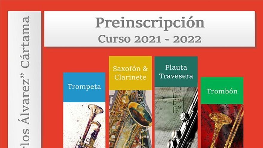 Preinscripción para el curso 2021/2022 de la Escuela Municipal d Música