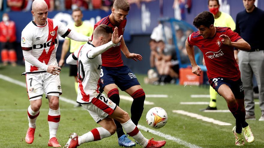 El Osasuna se lleva la victoria ante el Rayo Vallecano en el tiempo añadido
