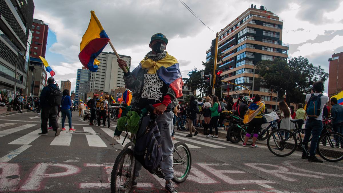 Protestas contra el Gobierno en Colombia.