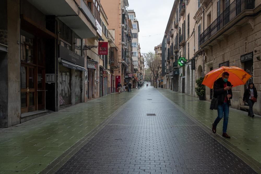Palma de Mallorca, fast autofrei wegen Corona