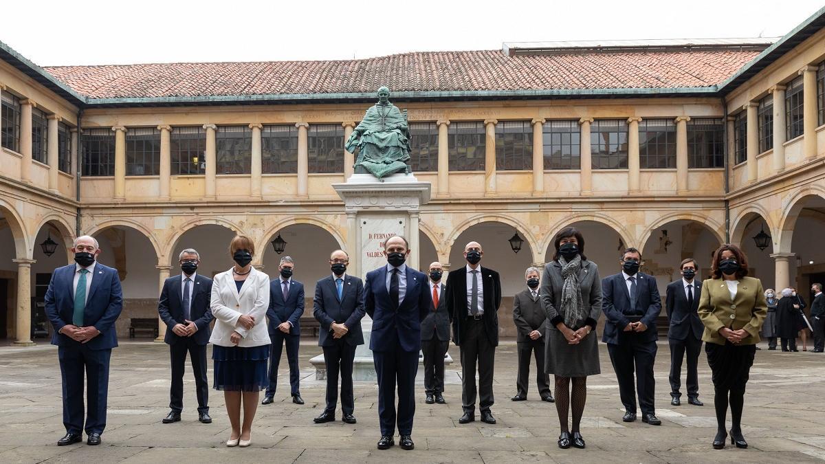 El nuevo equipo rectoral de la Universidad de Oviedo