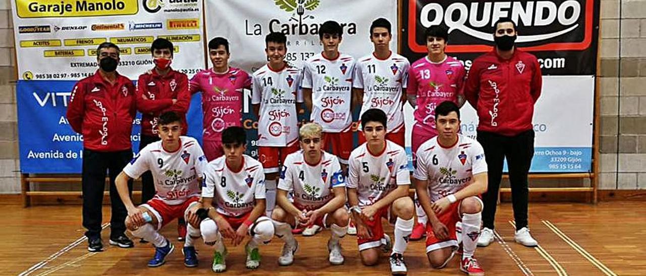 Plantilla del equipo juvenil del Gijón Playas. | Gijón Playas