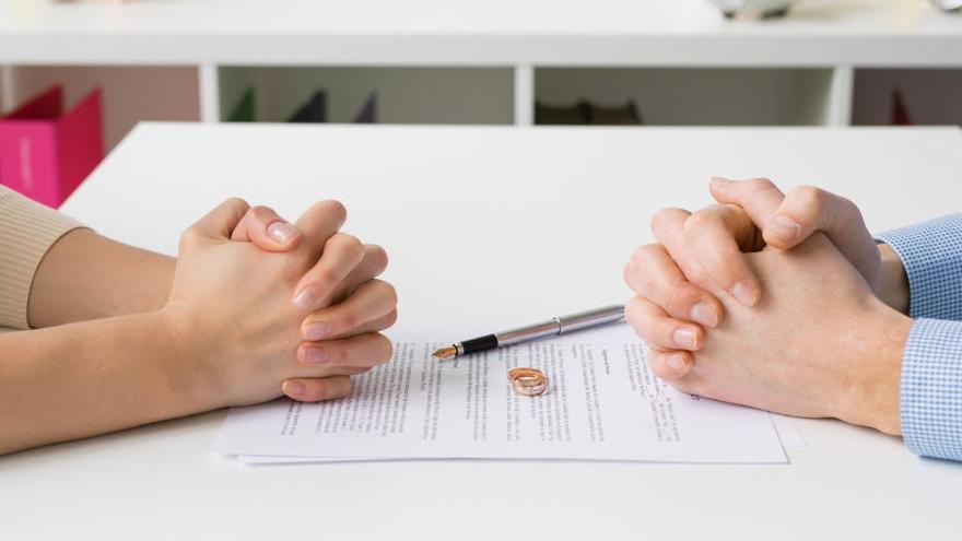 Divorcios y separaciones, a la baja antes del confinamiento