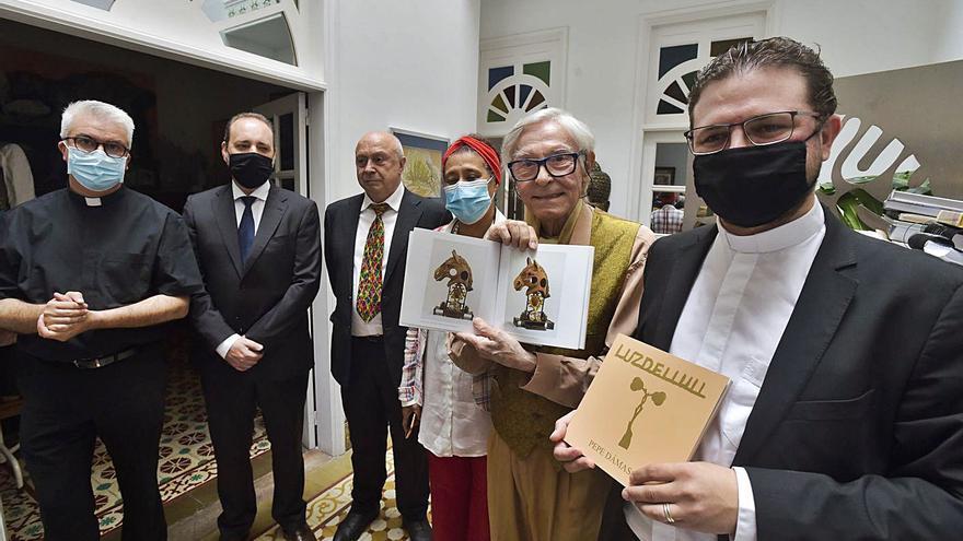Las obras que Pepe Dámaso realizó en homenaje a Llull regresan a la isla