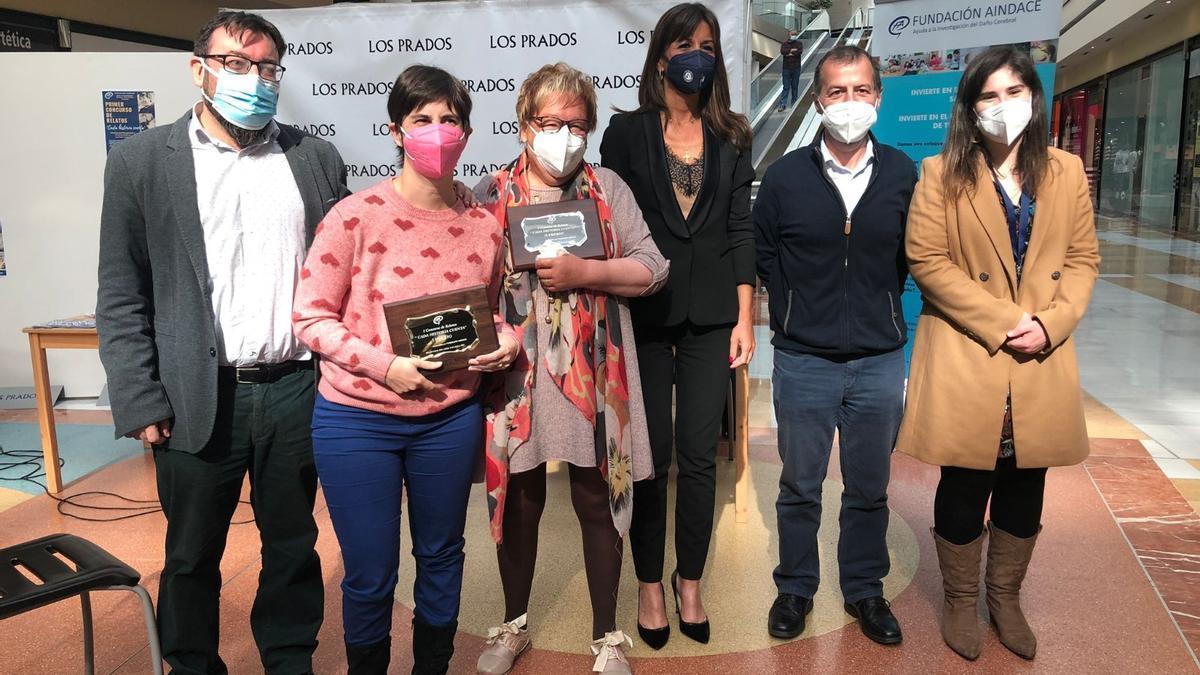 Por la izquierda, Juan Álvarez, Irene Gärtner, Mercedes Munuera, Leticia González, Juan Osoro y Ángela Antúnez.