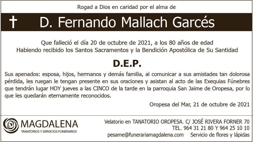 D. Fernando Mallach Garcés