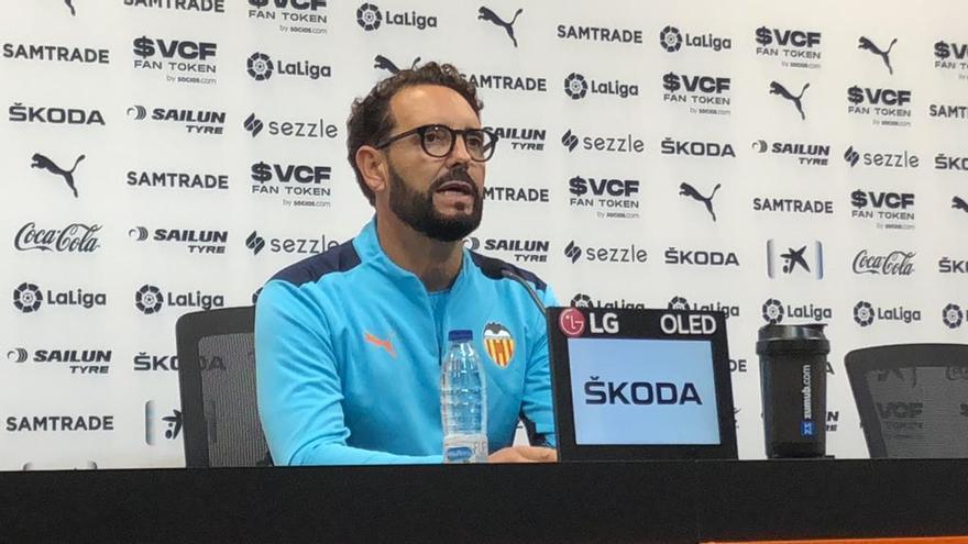 Bordalás analiza el papel de Maxi Gómez en el juego del Valencia