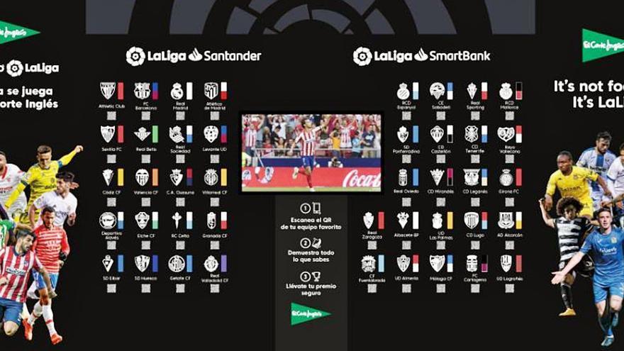 El Corte Inglés pone en marcha el juego 'Desafío LaLiga' en Málaga