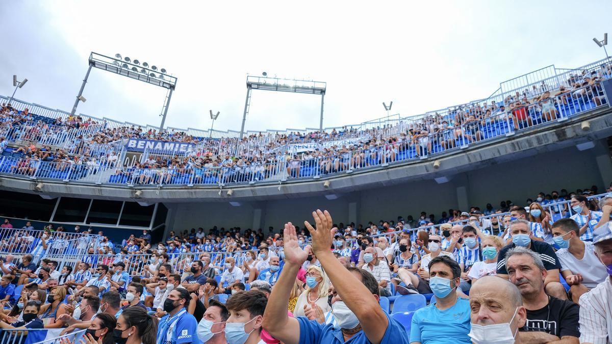 Las imágenes del Málaga CF - Fuenlabrada