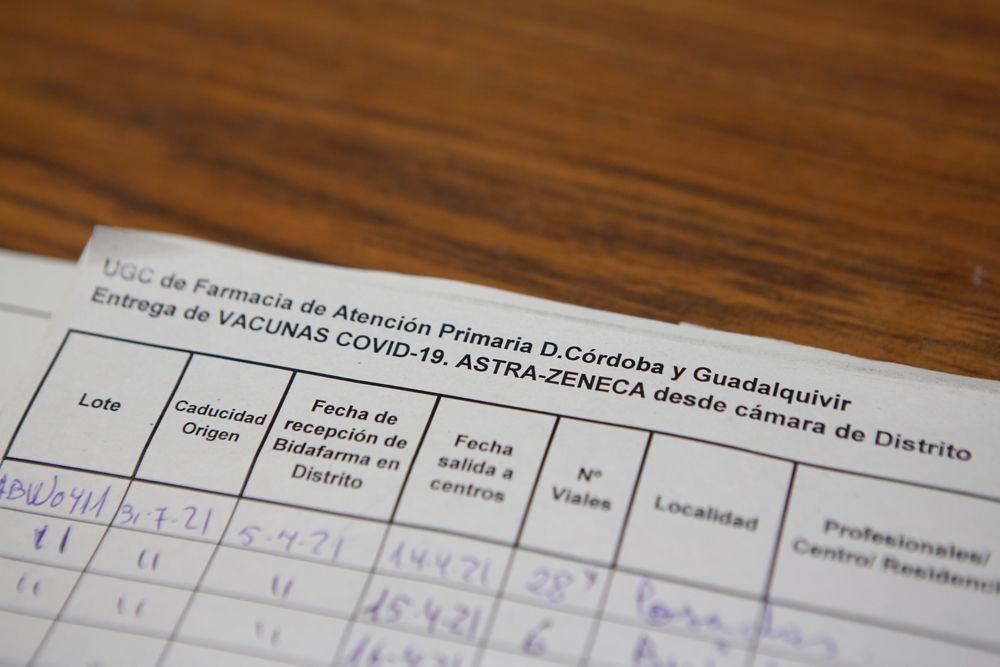 Se registran las vacunas que salen hacia cada centro