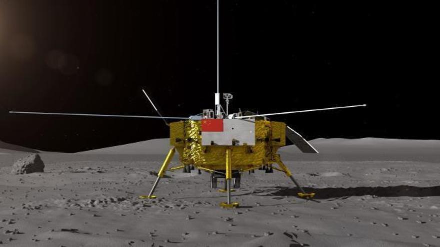 Una sonda china, la primera en pisar la cara oculta de la Luna