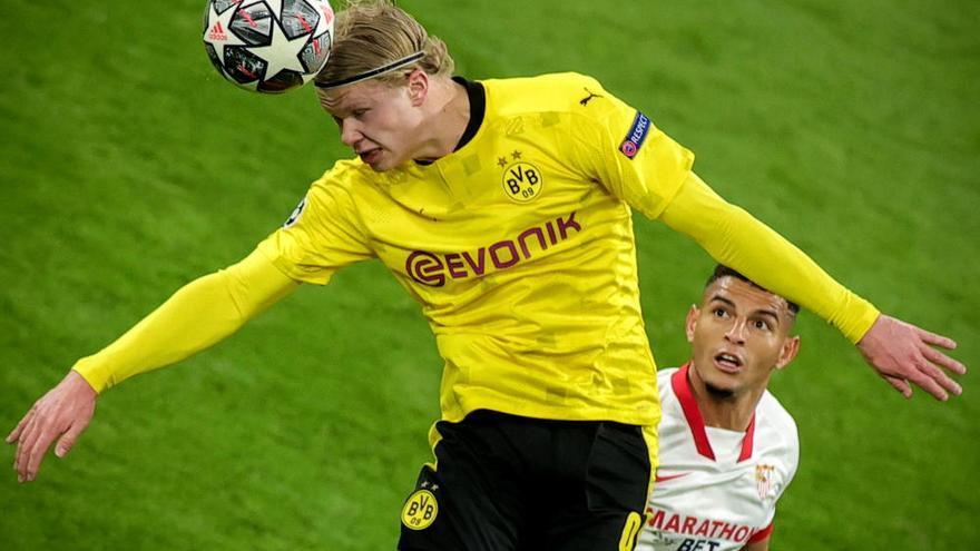 Haaland pasa al Dortmund a cuartos y echa al Sevilla de la Champions