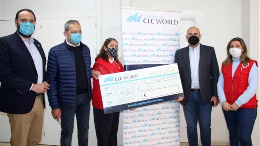 La Fundación CLC World dona más de 4.000 kilos de alimentos a las familias más necesitadas de Mijas