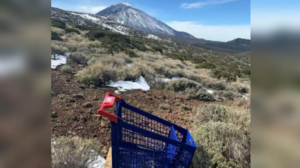 Hallan un carro de compra en el Teide