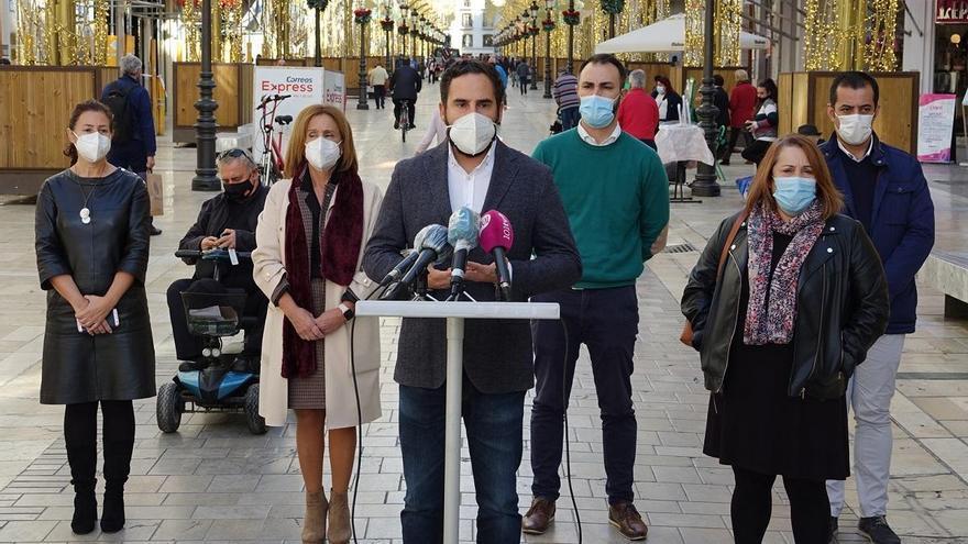 El PSOE pide control de aforos en la calle Larios