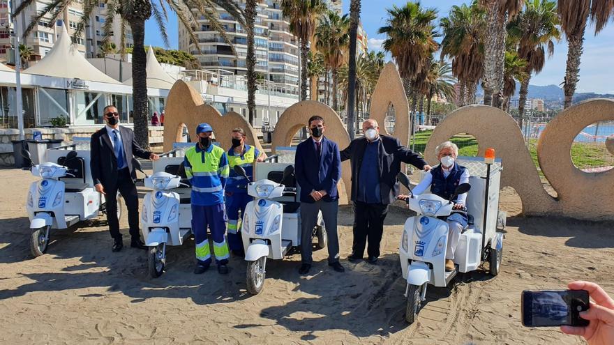 Las playas de Málaga cuentan con cuatro nuevos vehículos eléctricos para su limpieza
