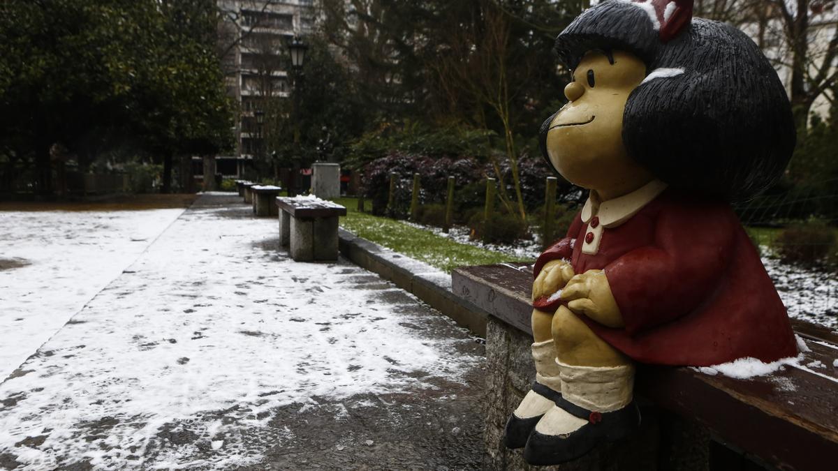 """La borrasca """"Filomena"""" llega a Asturias: todas las imágenes"""