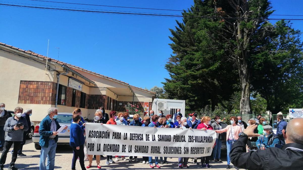 Manifestación en Villalpando