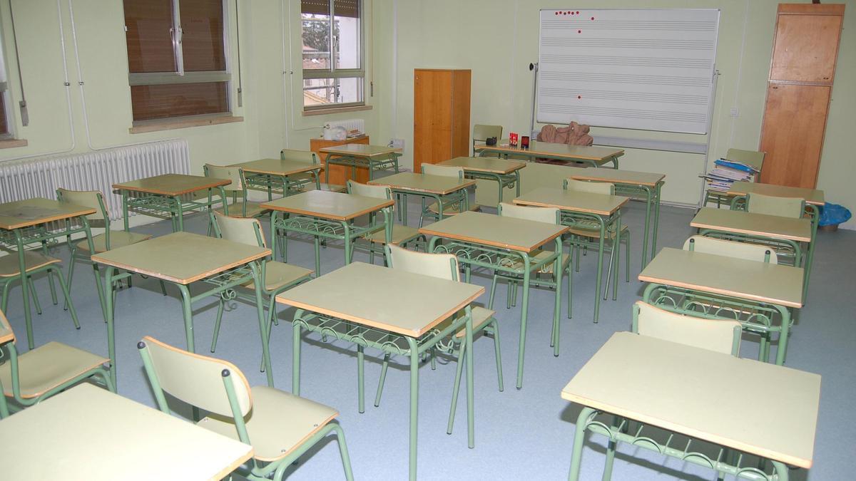 Una aula del CRA de Coreses