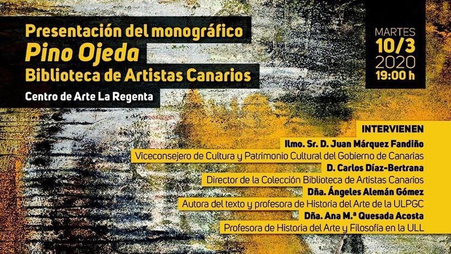 Presentación del monográfico 'Pino Ojeda'