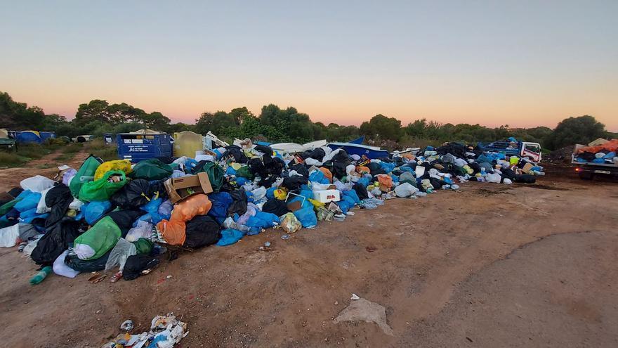 Queman contenedores en Santanyí que se ve obligado a asumir la retirada de basura