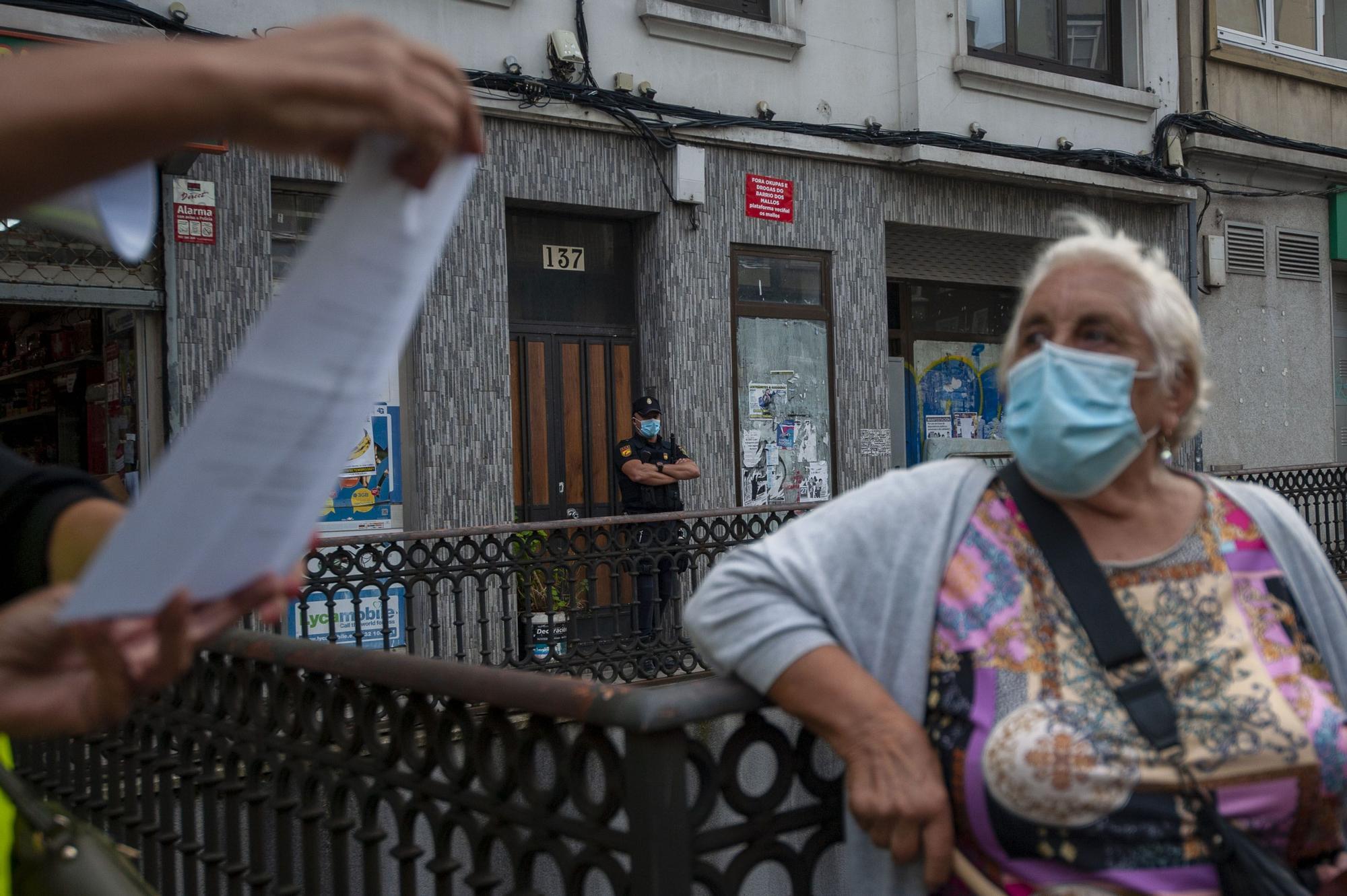 """Os Mallos se lanza a la calle para denunciar """"inseguridad"""""""