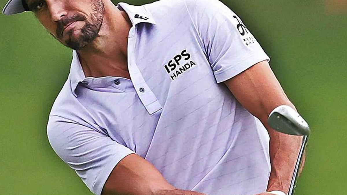 Rafa Cabrera Bello, durante una de sus participaciones en el Masters de Augusta. | | EFE