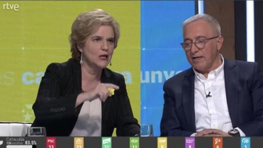 La baralla entre Xavier Sardà i Pilar Rahola: «Però quin 'Visca Espanya' ni què punyetes?»