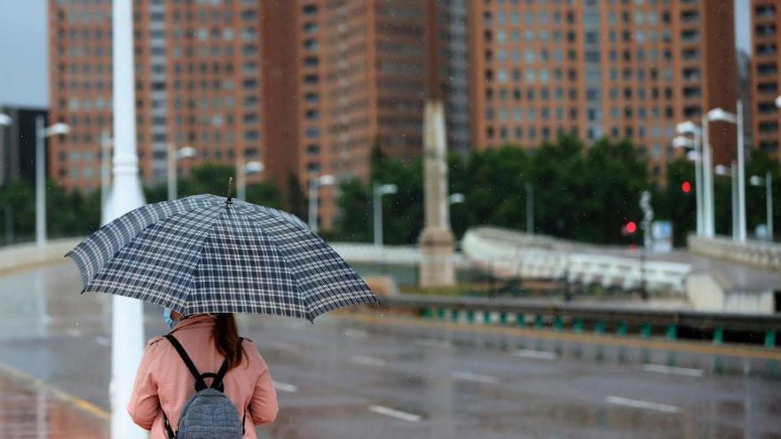 Lluvia en Valencia (14-5-2020)
