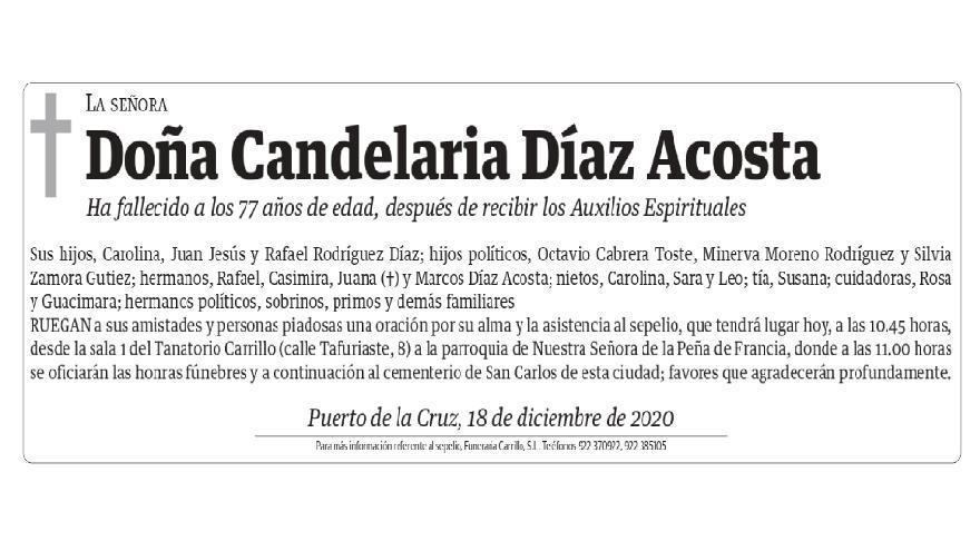 Candelaria Díaz Acosta