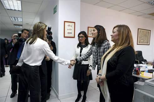 Visita de los Reyes a Grupo Zeta