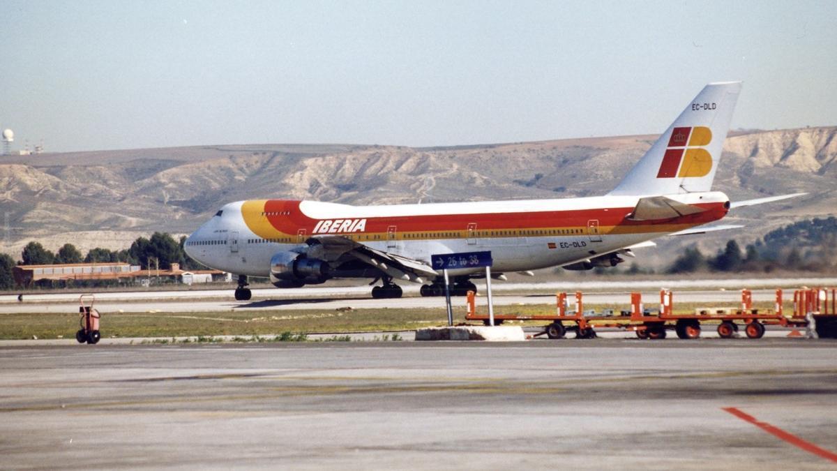 Un avión de la compañía Iberia.