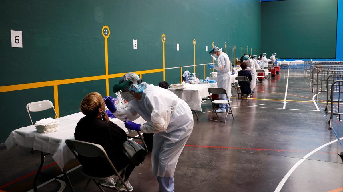 Pruebas de coronavirus en el País Vasco.