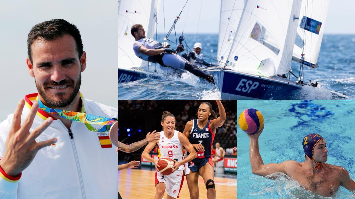 Craviotto, los regatistas del 470, el baloncesto femenino y el waterpolo masculino vuelven a escena este miércoles.