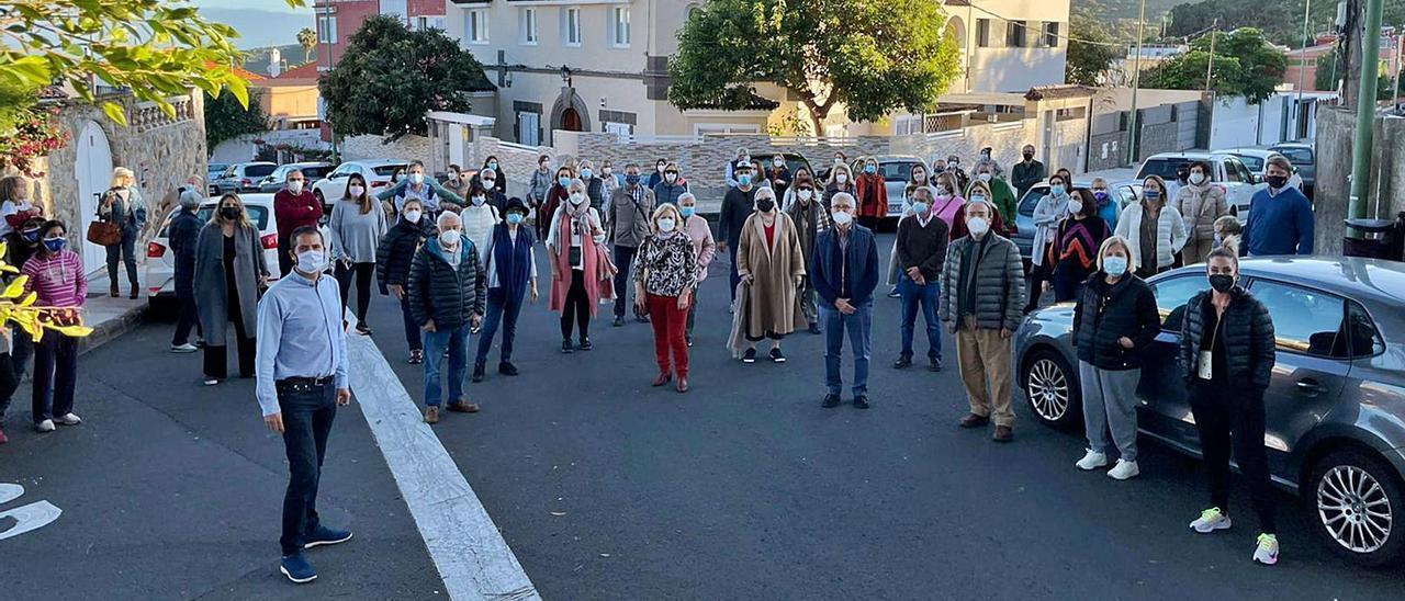 Vecinos de la Asociación de Bandama Tafira Alta, ayer.