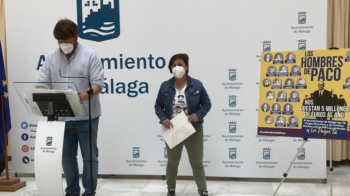 Paqui Macías y Nicolás Sguiglia en la rueda de prensa de hoy.