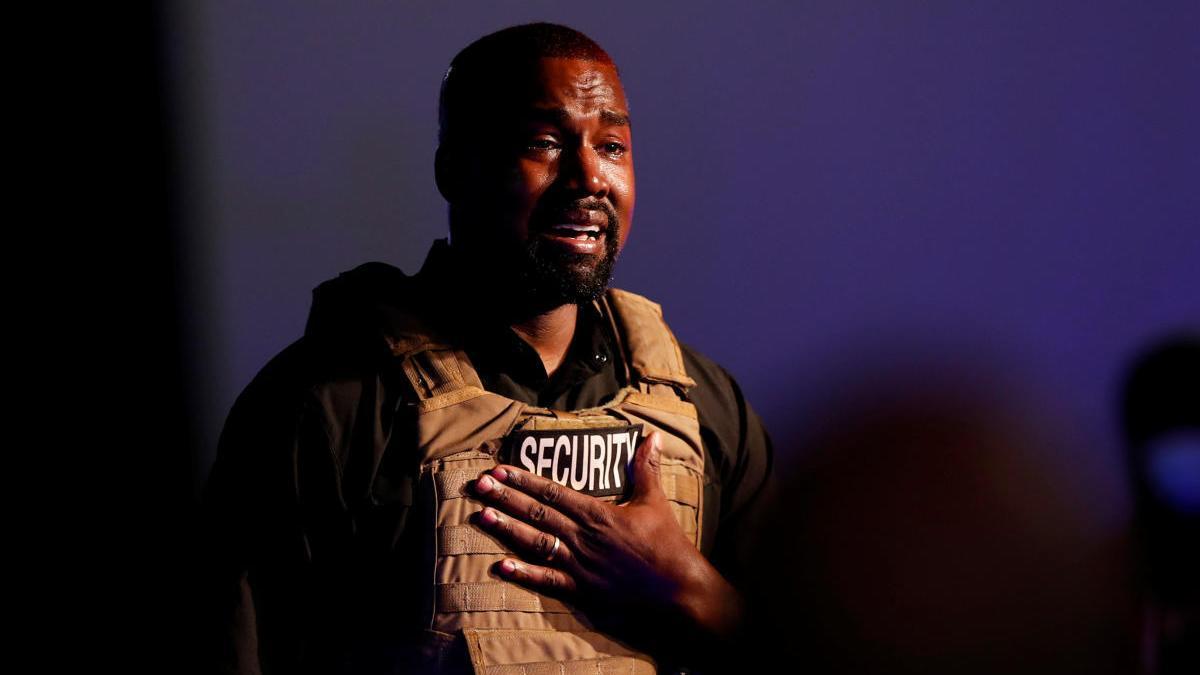 El rapero Kanye West celebra su primer mitin en apoyo de su candidatura presidencial.