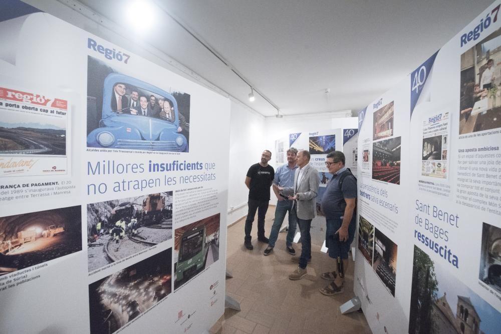 Inauguració de l'Exposició de Regió7 a Moià