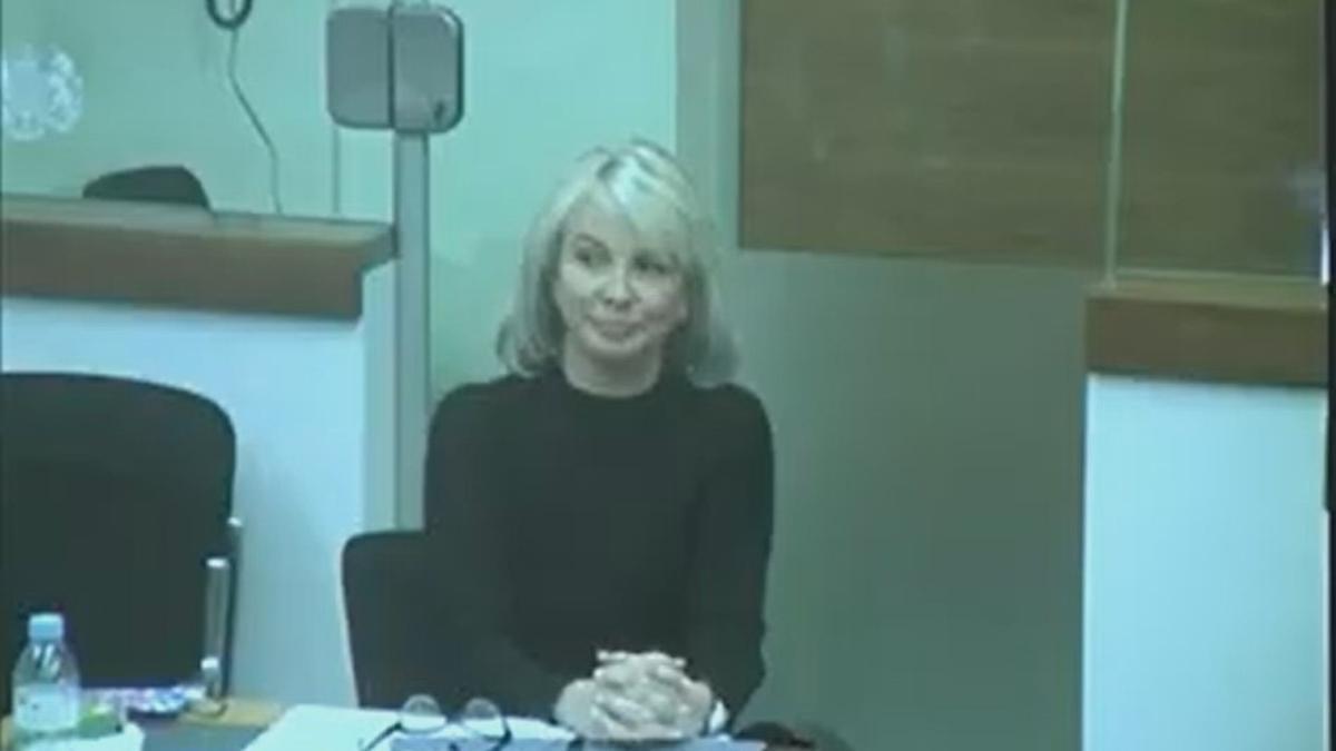 L'examant del rei emèrit Corinna Larsen durant el judici de Villarejo