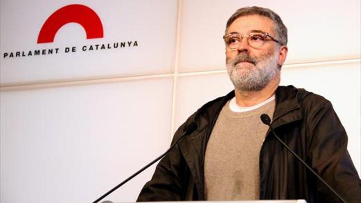 El diputado de la CUP Carles Riera