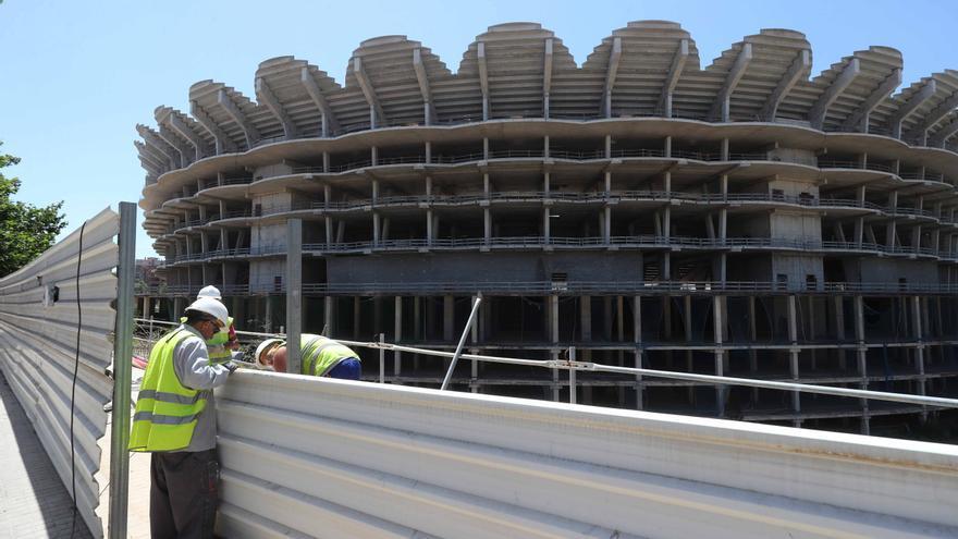Las obras en el nuevo Mestalla como nunca las habías visto antes