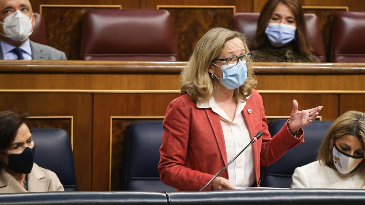 La vicepresidenta segunda del Gobierno, Nadia Calviño.