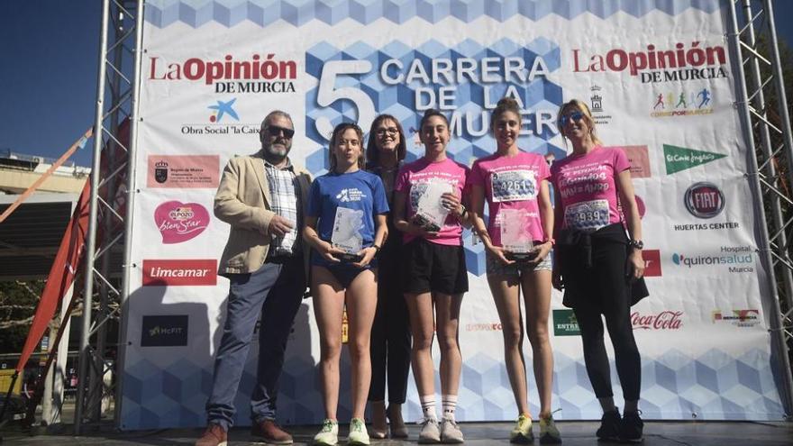 Carrera de la Mujer de Murcia. Pódium