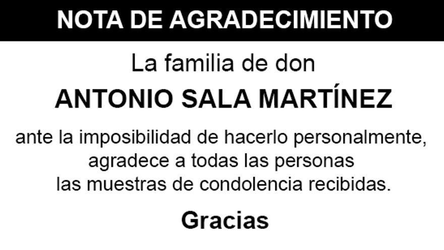 Nota Antonio Sala Martínez