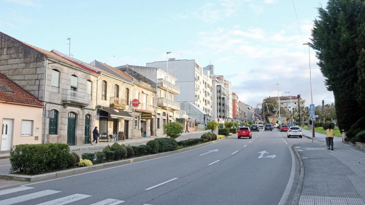 Vista general de la Avenida de Castrelos, donde sucedieron los hechos. // Marta G. Brea