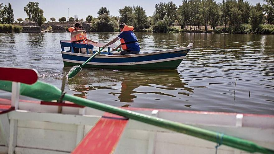 Las aceñas de Olivares, la barcaza y las barcas de remo retoman la actividad