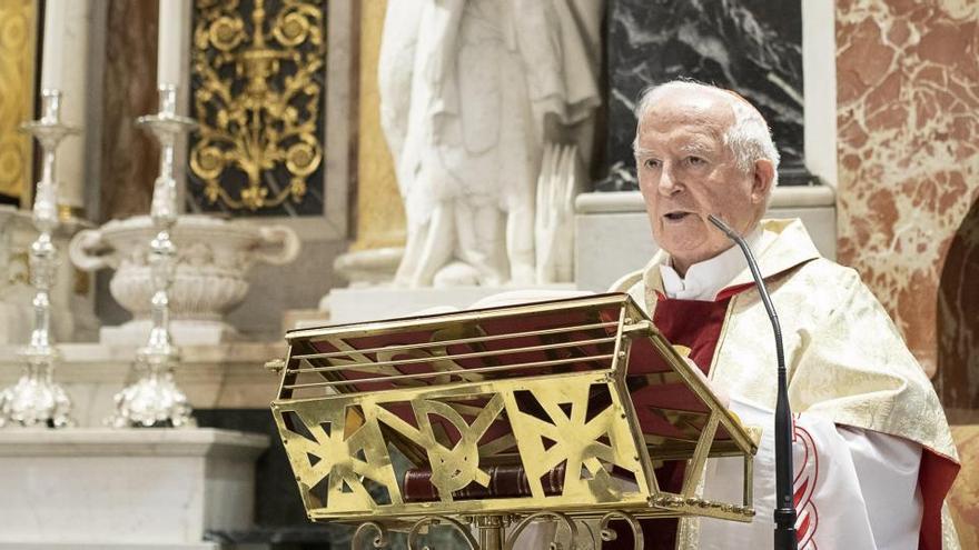 """El cardenal Cañizares dice que la vacuna del virus se busca mediante """"fetos abortados"""""""