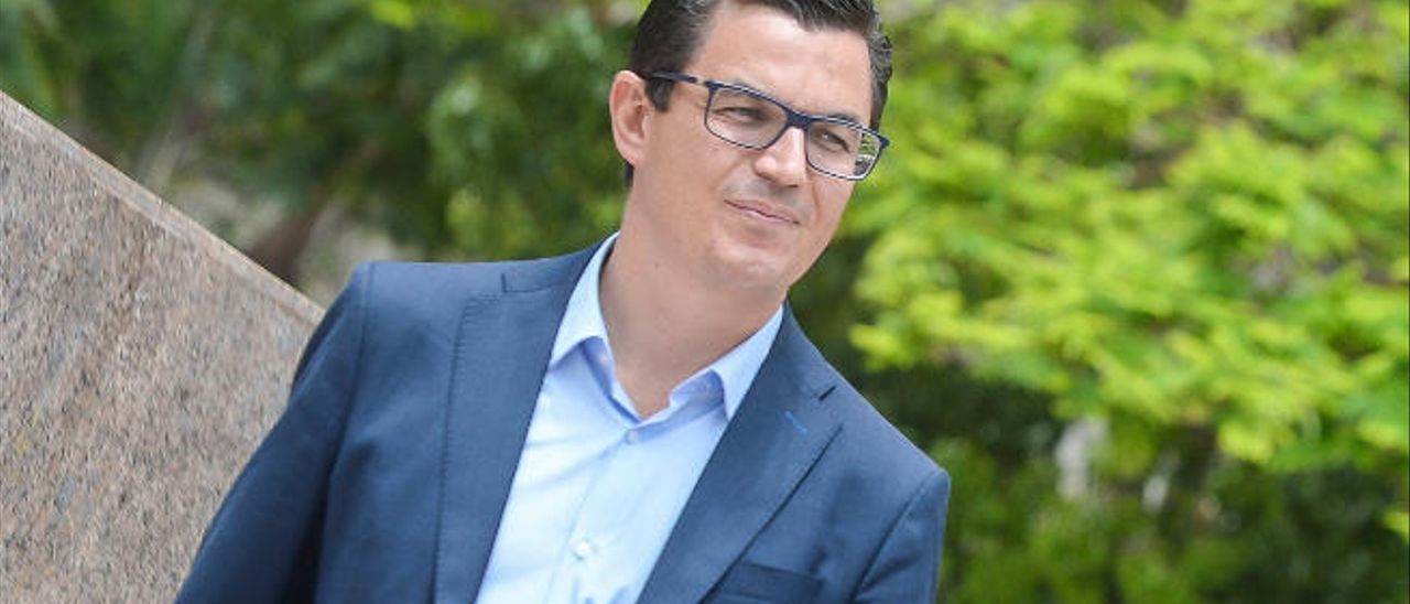 Pablo Rodríguez, ayer antes de la entrevista en Las Palmas de Gran Canaria.