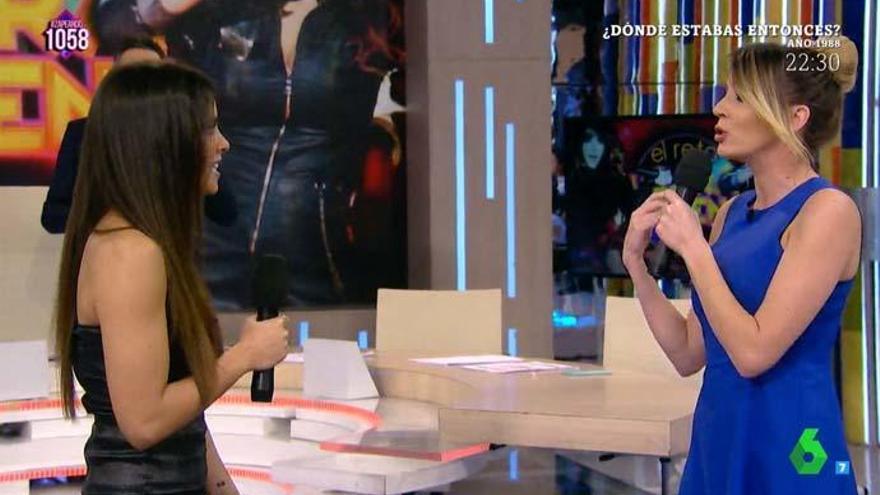 Cristina Pedroche y Anna Simón ensayan 'Lo Malo'
