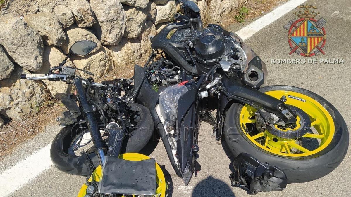 Accidente de moto en Palma